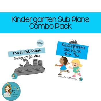 Kindergarten Sub Plans Combo Pack