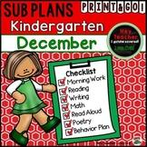 Kindergarten Sub Plans {December-Holiday}