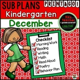 Kindergarten Sub Plans {December-Holiday}