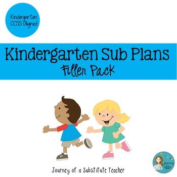 Kindergarten Sub Plans Filler Pack
