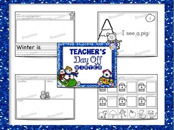 Kindergarten Sub Plans Four Seasons Bundle