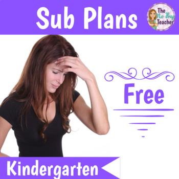 Kindergarten Sub Plans Free