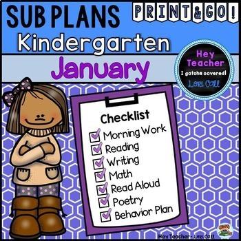 Kindergarten Sub Plans {January-Winter}