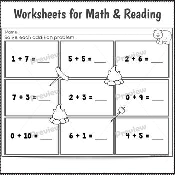 Kindergarten Sub Plans July 3 Full Days