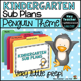 Kindergarten Sub Plans: Penguin Theme