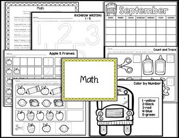 Kindergarten Sub Plans {September-Back to School}