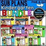 Kindergarten Sub Plans  {The Bundle}