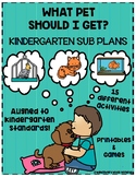 Kindergarten Sub Plans with What Pet Should I Get?