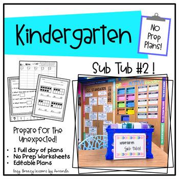 Kindergarten Sub Tub 2 (No Prep. Full Day of Substitute Plans)