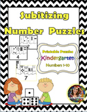Kindergarten Subitizing Puzzles Numbers 1-10