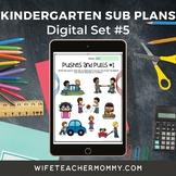 Kindergarten Substitute Lesson Plans Digital Google Slides Set #5