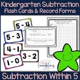 Kindergarten Subtraction Flash Cards- Subtraction Within 5