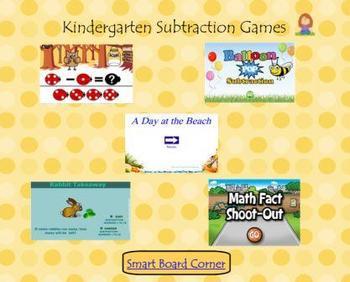 Kindergarten Subtraction Games Smart Board Lesson