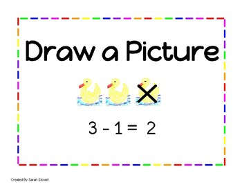 Kindergarten Subtraction Learning Posters