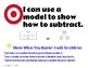Kindergarten Subtraction Learning Targets with Success Criteria