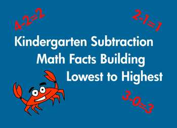 Kindergarten Subtraction Math Facts Common Core Based