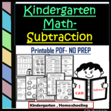 Kindergarten Subtraction | Math Subtraction Worksheets for Kinder | Within 10