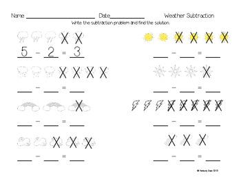 Kindergarten Subtraction Practice