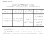 Kindergarten Subtraction Rubrics Sample