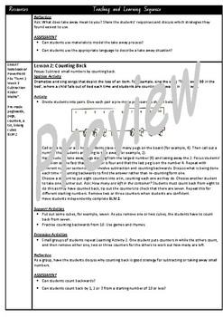 Kindergarten Subtraction Smart Notebook and Unit of Work Bundle 1