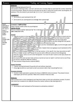 Kindergarten Subtraction Smart Notebook and Unit of Work Bundle 2