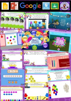Kindergarten Subtraction Smart Notebook and Unit of Work Bundle 3