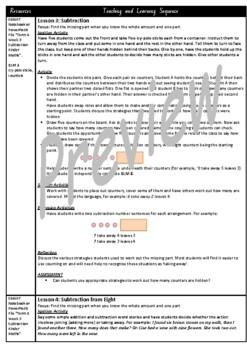 Kindergarten Subtraction Smart Notebook and Unit of Work Bundle 3
