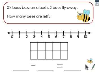 Kindergarten Subtraction Word Problems
