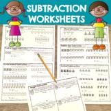 Distance Learning Kindergarten Subtraction Worksheets