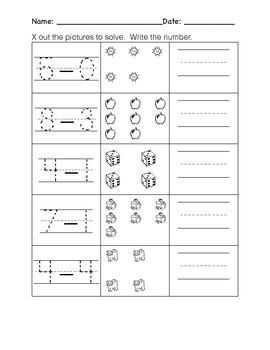 Kindergarten Subtraction Worksheets- Pic Subtraction, Word Problems, # Equations