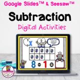 Kindergarten Subtraction within 10 Google Slides & Seesaw
