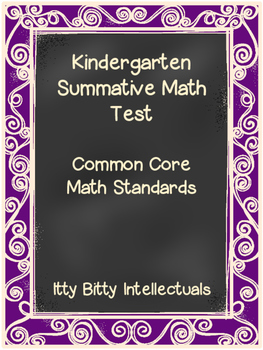 Kindergarten Summative Math Test