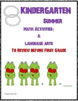 Kindergarten Summer Activities