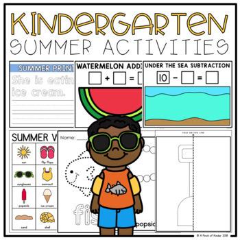 Kindergarten Summer Activities (Literacy + Math)