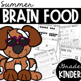 Kindergarten Summer Brain Food {Summer Packet}