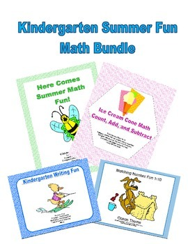 Kindergarten Summer Fun Math Bundle  CCSS