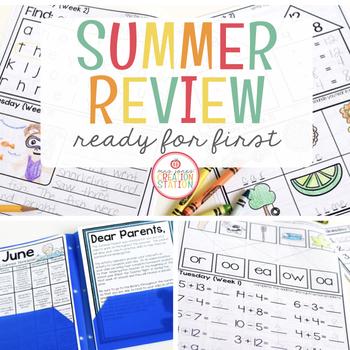 Kindergarten Summer Homework {Editable}