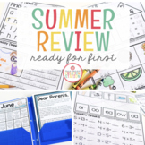 FIRST GRADE READINESS SUMMER PACKET FOR DISTANCE LEARNING - EDITABLE
