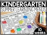 Kindergarten Summer Learning Menus | DISTANCE LEARNING GOO