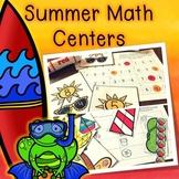 Kindergarten Summer Math Center Bundle - 7 End of the Year Math Centers