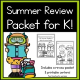 Kindergarten Summer Packet: Math & Literacy Review