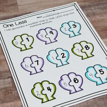 Kindergarten Summer Math No Prep Printables {TEKS/CCSS}
