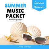 Kindergarten Summer Music Packet