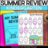 Kindergarten Summer Packet | End of the Year Review