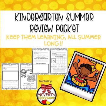 Kindergarten Summer Review Journal