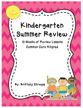 Kindergarten Summer Review Pack: Common Core Aligned