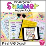 Kindergarten Summer Review Packet Digital Google Slides an