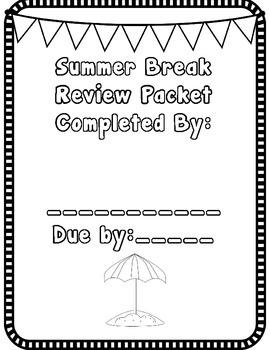 Kindergarten Summer Review Packet (Entering 1st graders)