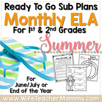 Summer camp lesson plans teaching resources teachers pay teachers june july august 1st 2nd grade summer review sub plans or activities for ela june july august fandeluxe Images