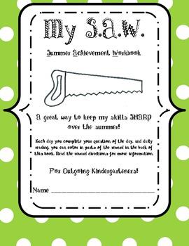 Kindergarten Summer Review Workbook